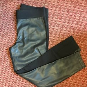 LOFT Faux Leather Black Pants -NWOT